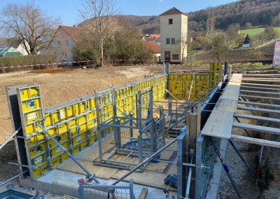 Bau eines Swimmingpools