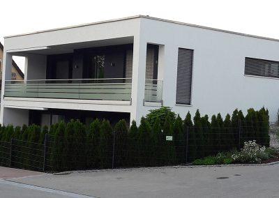 Bau eines modernes Wohnhauses